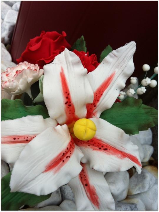 Ramo de flores de fondant