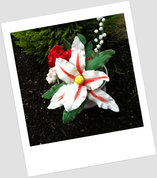 Bouquet de flores de azúcar