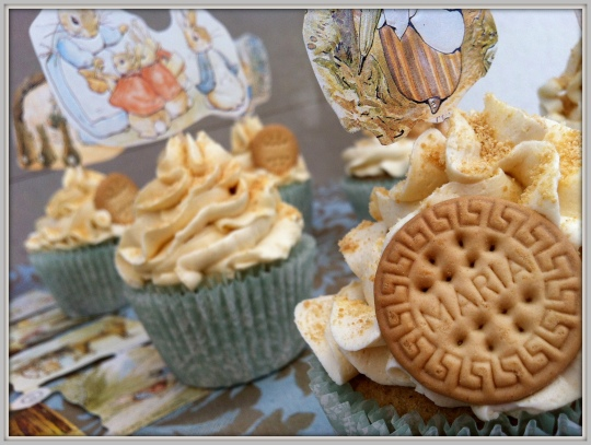 Cupcakes de galleta maría Beatrix Potter