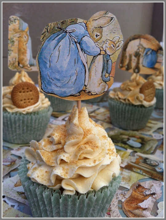 Cupcakes de galleta Beatrix Potter