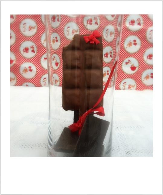 Chocolatina rellena de bizocho