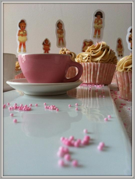 Cupcakes de nata y avellana