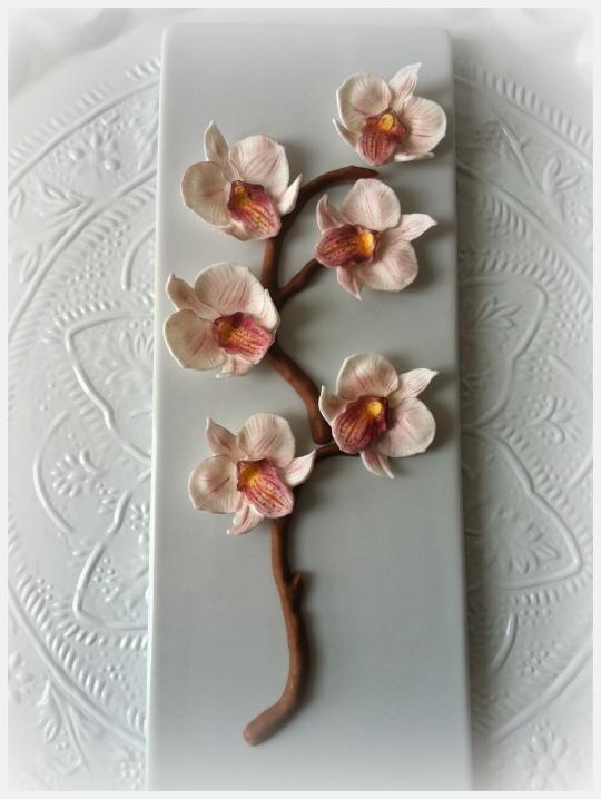 Orquídeas de fondant