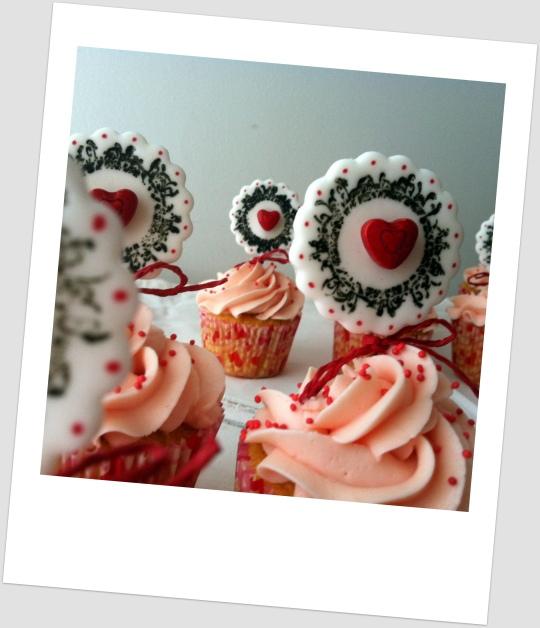 Cupcakes de fresa para San Valentín