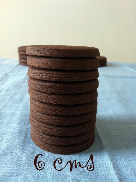Galletas de chocolate efecto moneda