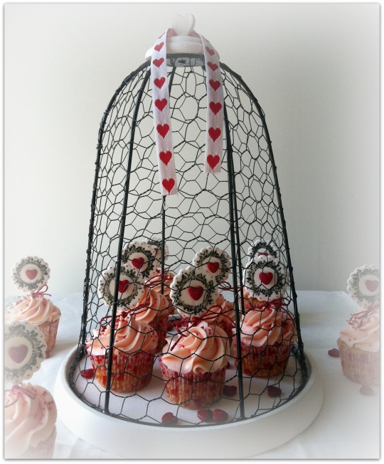 Cupcakes de corazones rojos San Valentín