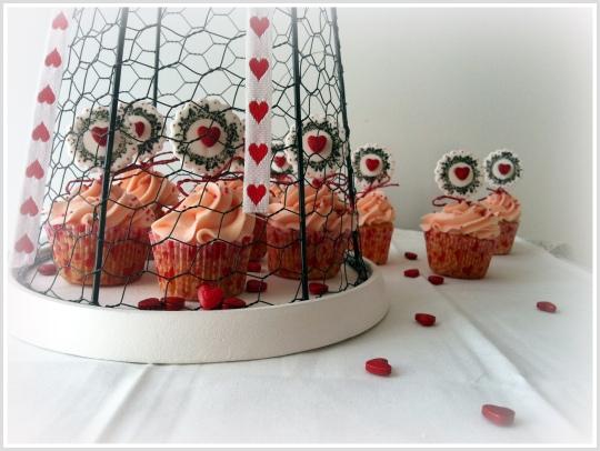 Cupcakes San Valentín de fresa