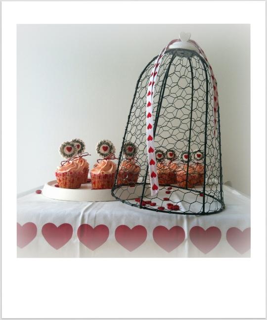 Cupcakes fresa corazones San vlentín