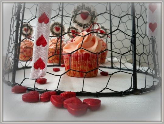 Cupcakes fresa corazón San Valentín