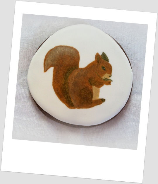 Galleta pintada ardilla