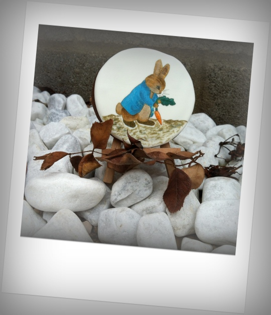 Galleta  pintada Conejo Beatrix Potter