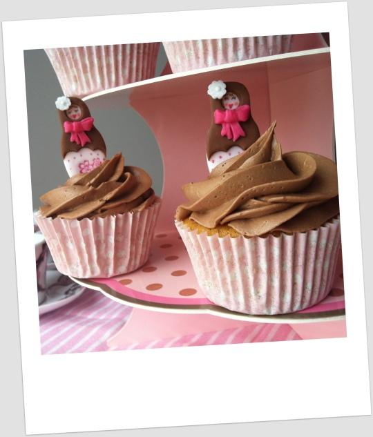 Cupcakes de mandarina con Nutella