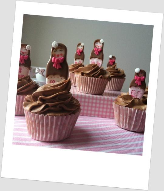 Cupcakes de Matrioskas
