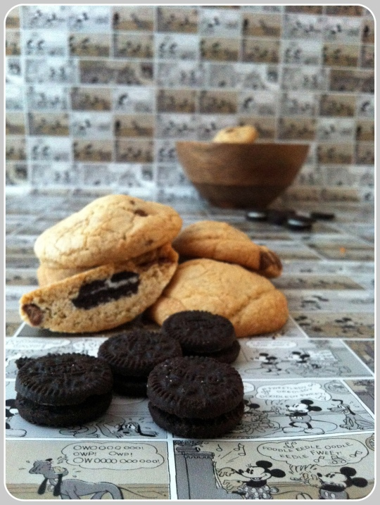 Galletas con chips de chocolate y Oreo
