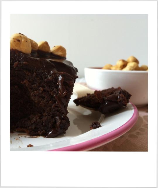 Tarta de chocolate con avellana, nocilla o nutella