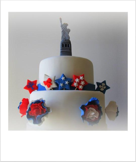Tarta USA estatua libertad