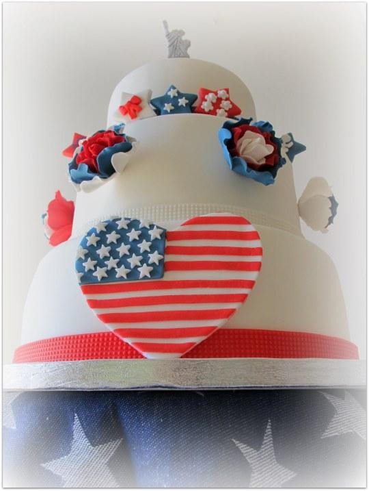Tarta USA estatua de la libertad