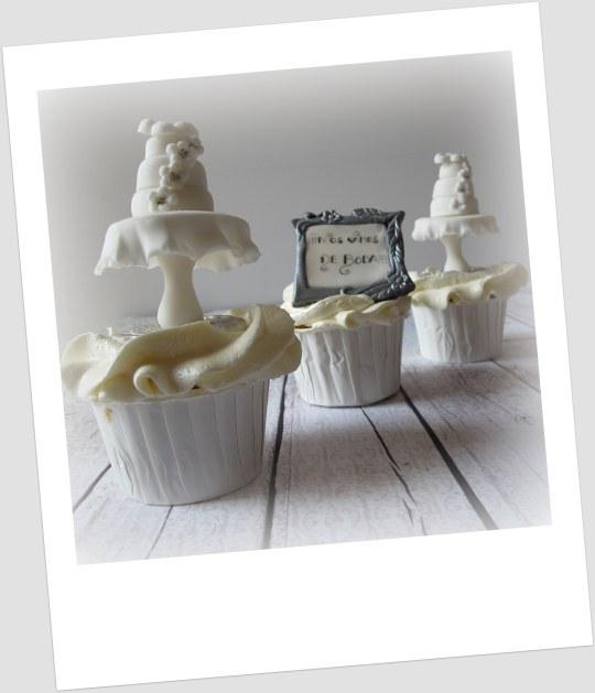 Cupcakes nupciales de coco y manzana