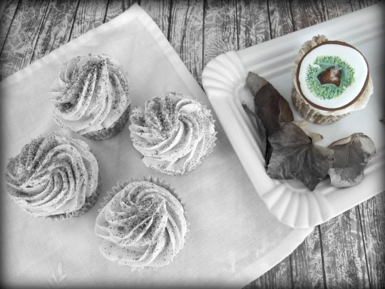 Cupcakes de otoño de castañas