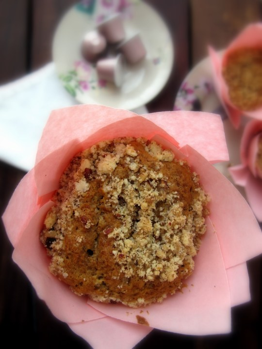 Muffins café y nueces pacanas