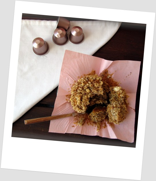 Muffins de cafe con pacanas