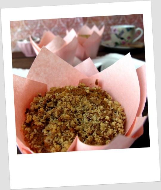 Muffins de cafe y pacanas