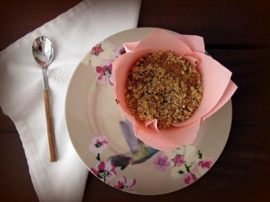 Muffins de nueces pacanas y café