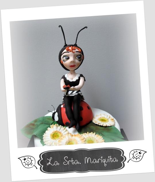 Srta Mariquita de fondant