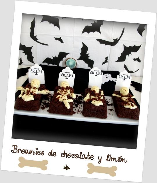 Tumbas de brownie de choco-limón