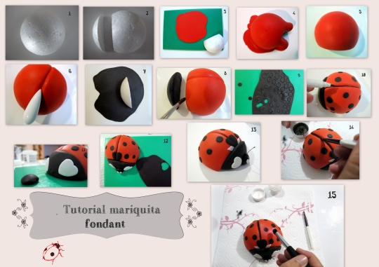Tutorial mariquita fondant photoshop