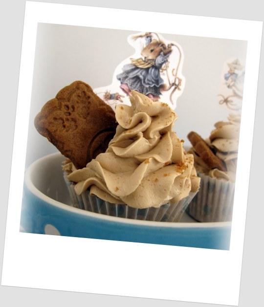 Cupcakes spéculoos con cromos