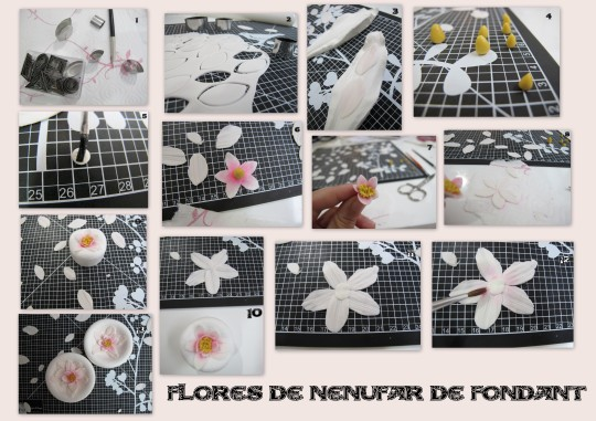 flores Nenufares de fondant tutorial