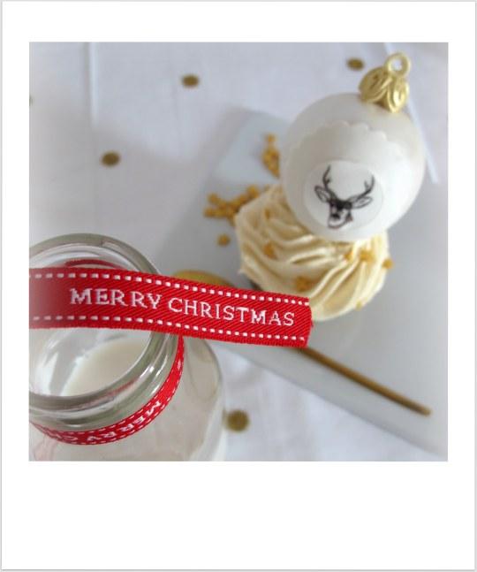 Cupcakes de Navidad de turrón de yema tostada