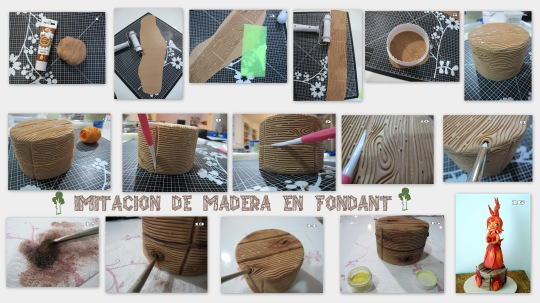 Minitutorial madera en fondant
