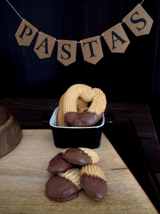 Pastas caseras con chocolate