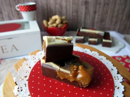 Snickers de chocolate -cacahuete y caramelo