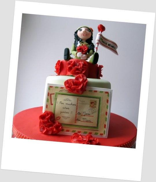 Tarta amor, corazones para San Valentín