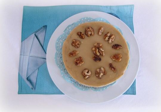 Trat de queso con nueces  y glaseado
