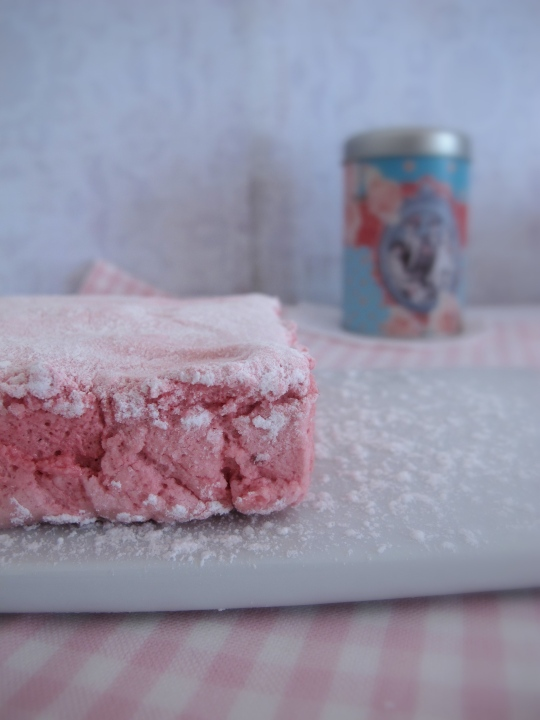 marshmallow de fresa casero