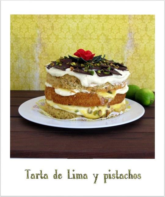 Tarta de lima y pistachos