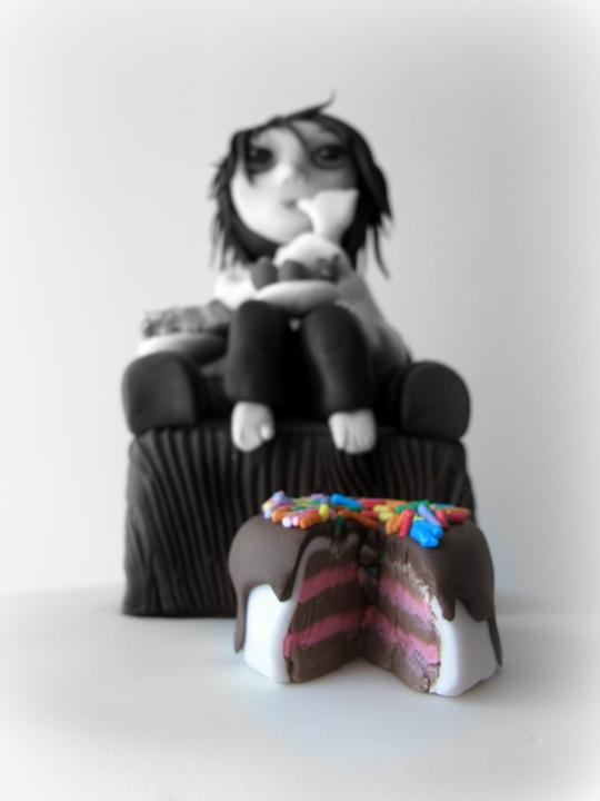 modelado muñeco fondant sillón