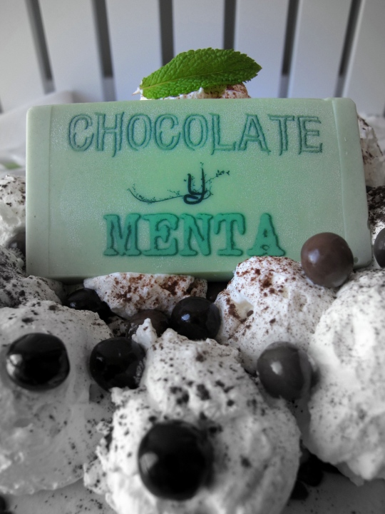 Tarta menta con chocolate