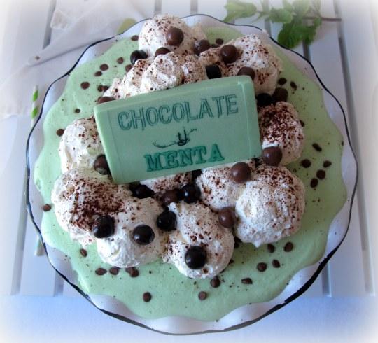 Tarta menta-chocolate-nata