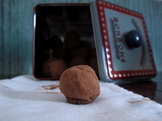 Trufa chocolate y caramelo