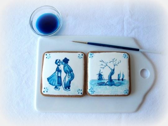 Galletas pintadas a mano con pinturas comestibles