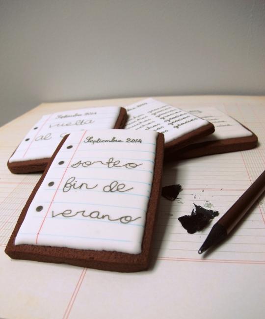 Galletas pintadas cuaderno