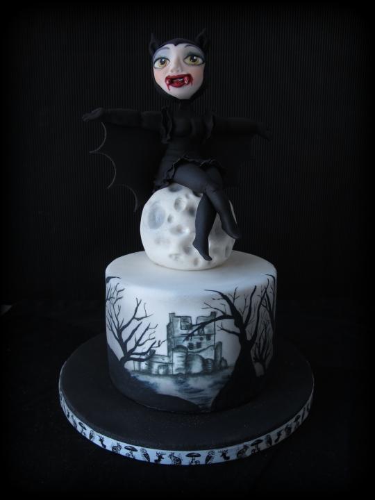 Tarta vampiresa Halloween